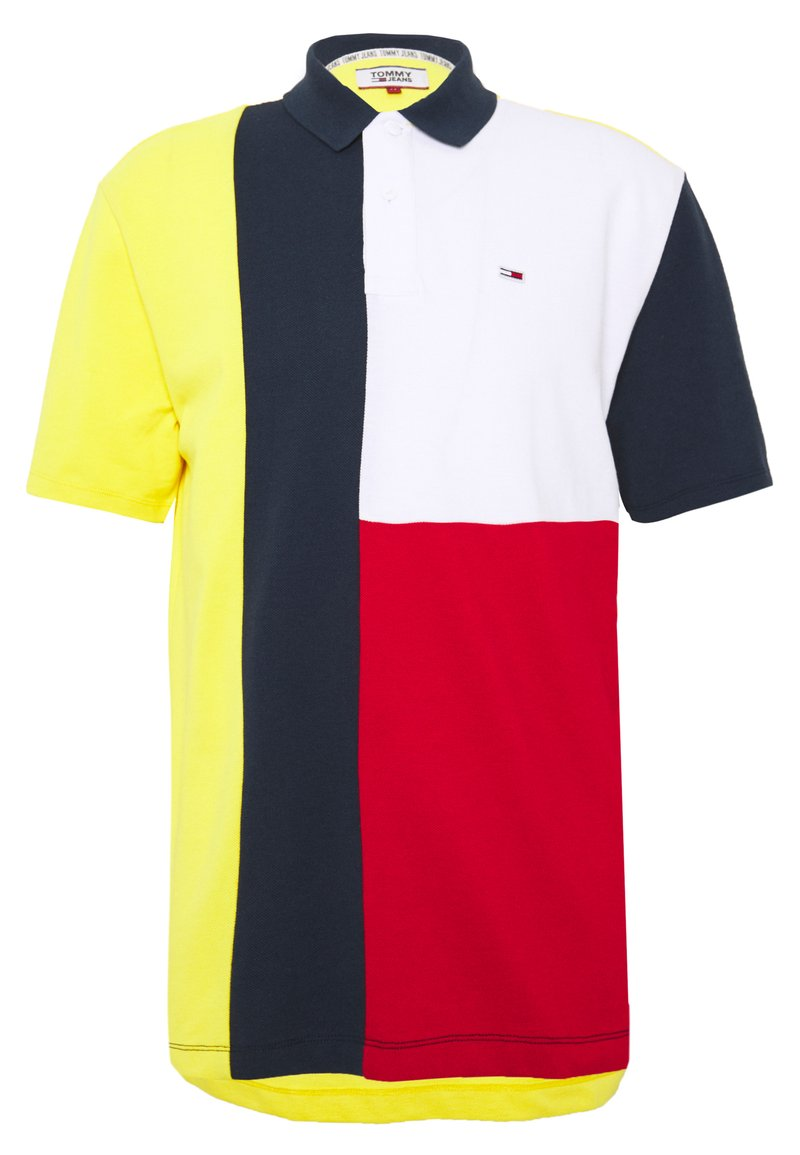 Tommy Jeans - COLORBLOCK - Polo shirt - star fruit yellow/multi
