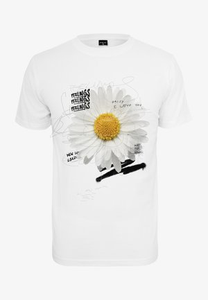 DAISY FEELINGS  - Print T-shirt - white