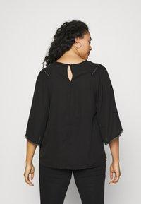 Zizzi - XDICTE  3/4 BLOUSE - Long sleeved top - black - 2