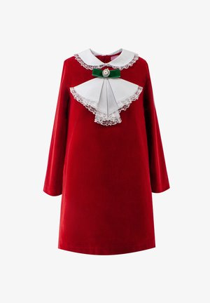 WITH BOW - Day dress - red
