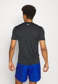 Mizuno - CORE TEE - T-shirt print - black - 2