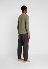 Sisley - Trousers - mottled dark grey - 2