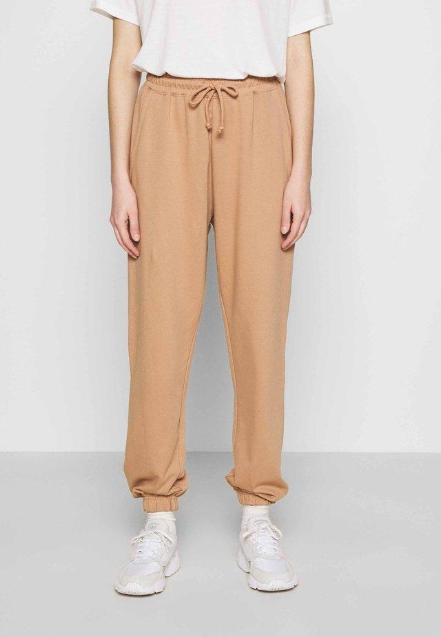 Tracksuit bottoms - camel