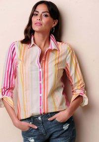 Alba Moda - Button-down blouse - orange/pink/sand - 3