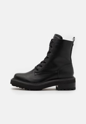 QUANDA - Bottines à lacets - black