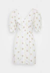 Glamorous - TIE BACK BUTTON MINI DRESSES WITH PUFF SLEEVES - Day dress - yellow - 6