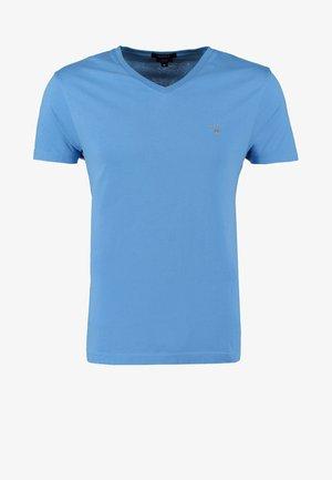 ORIGINAL SLIM V NECK - T-shirt basique - pacific blue