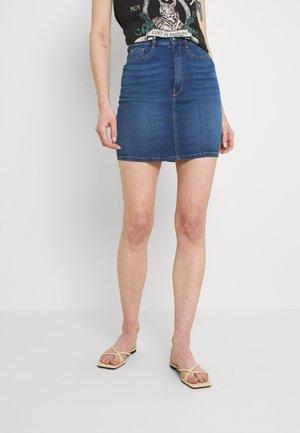 SKIRT - Denimová sukně - dark blue denim