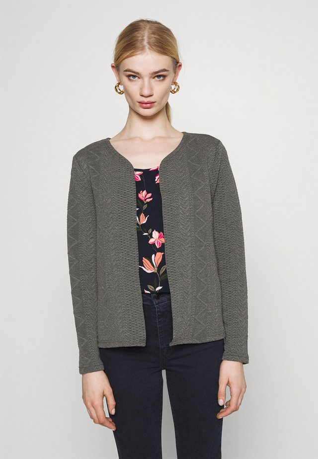 ONLCABLE SHORT CARDIGAN  - Kardigan - dark grey melange