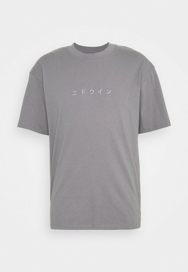 KATAKANA EMBROIDERY UNISEX  - T-shirt basic - grey