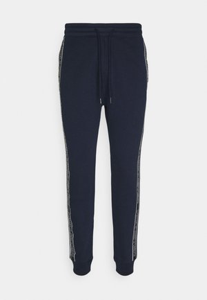 LOGO TAPE JOGGER - Tracksuit bottoms - navy