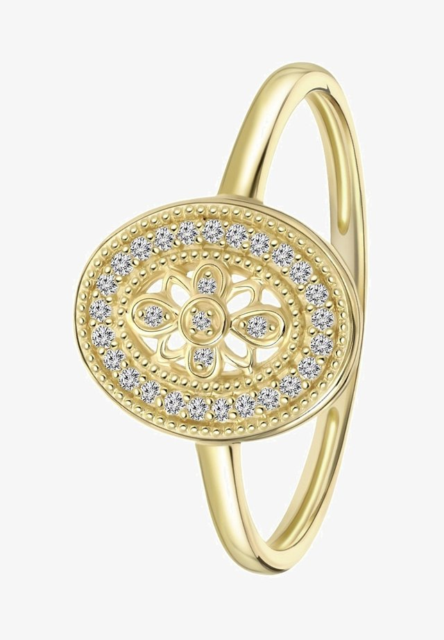 14 CT GOLD, DIAMOND 0,07CT - Ring - geel