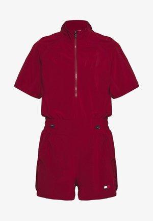 ZIP SHORT PLAYSUIT - Gym suit - red