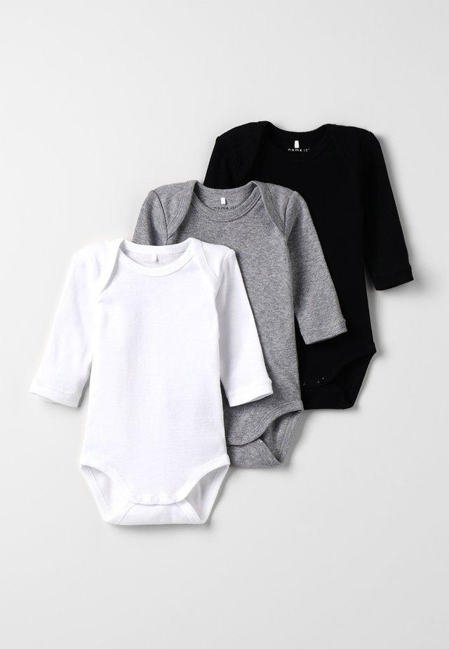 BABY BASIC 3 PACK - Body - black/white/lightgreymelange