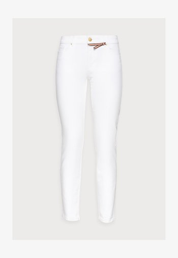 TROUSERS TOVA CROPPED - Jeans slim fit - off white