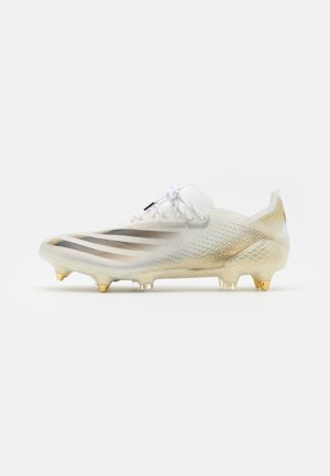 X GHOSTED FOOTBALL BOOTS SOFT GROUND - Nurmikengät - footwear white/core black/metallic gold