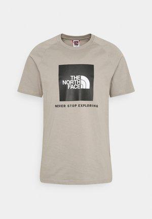 Print T-shirt - mineral grey