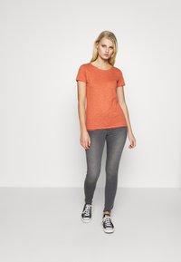 Sisley - ROUND NECK - Basic T-shirt - coral - 1