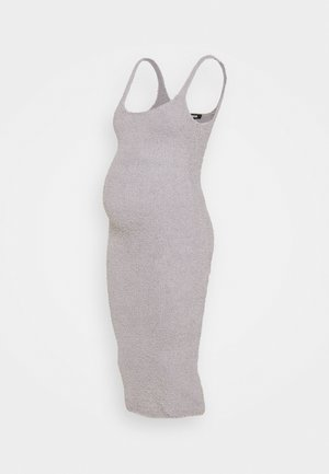 MATERNITY POPCORN MIDAXI DRESS - Shift dress - grey