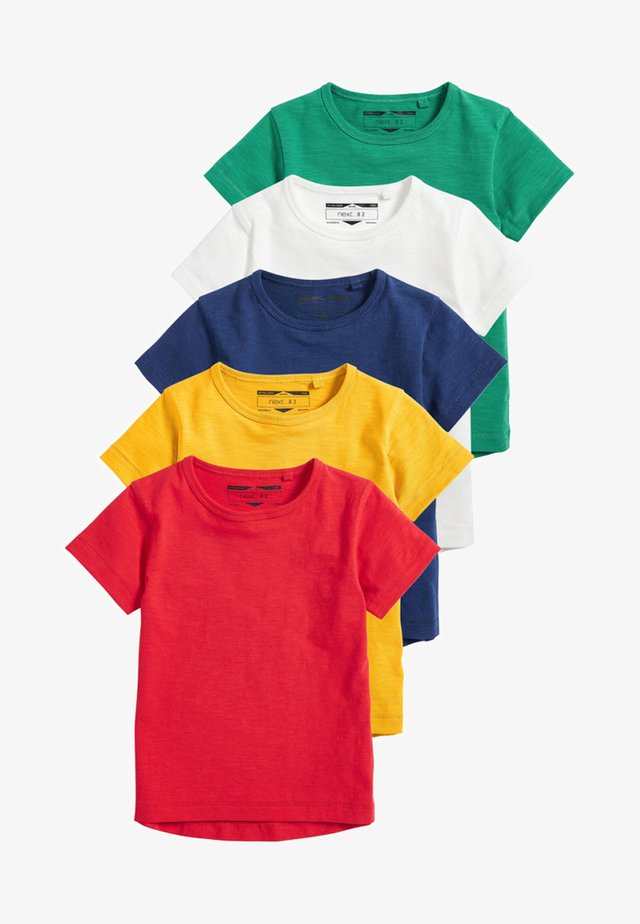 SHORT SLEEVE T-SHIRTS 5 PACK - Basic T-shirt - red
