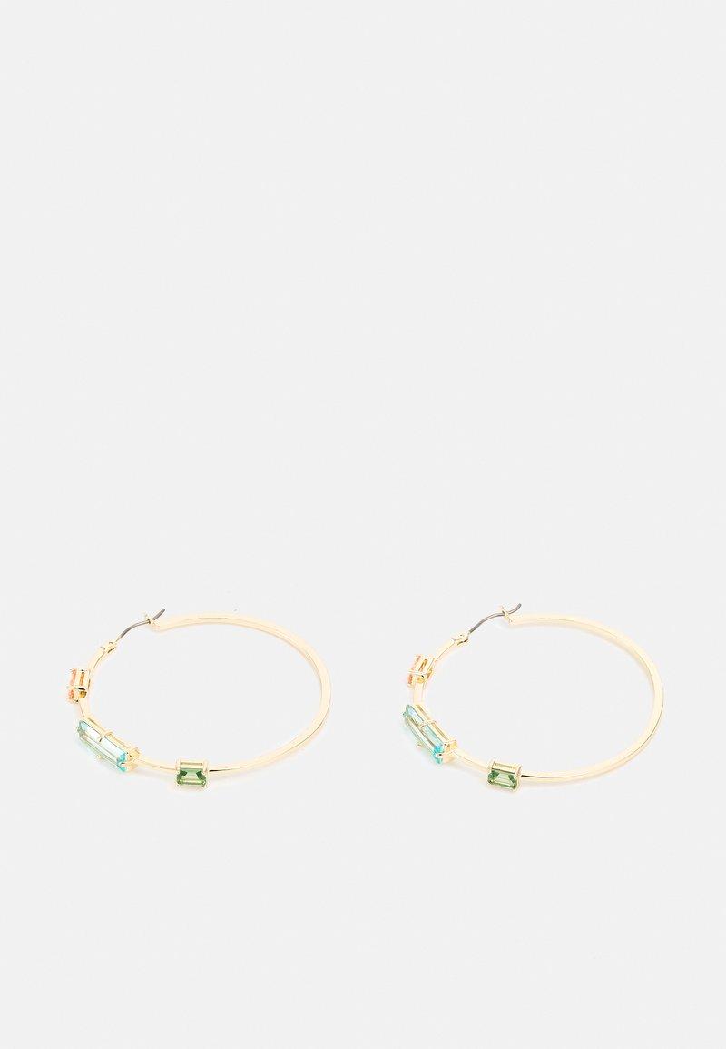 Lauren Ralph Lauren - STONE HOOP - Earrings - gold-coloured/multi