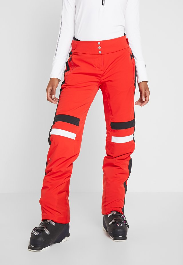 WOMEN MADRISA PANTS - Talvihousut - fiery red/black