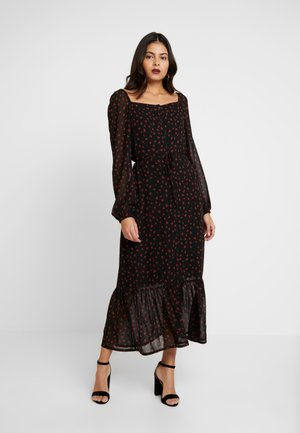 VALERY PRINT DRESS - Denní šaty - black/brown
