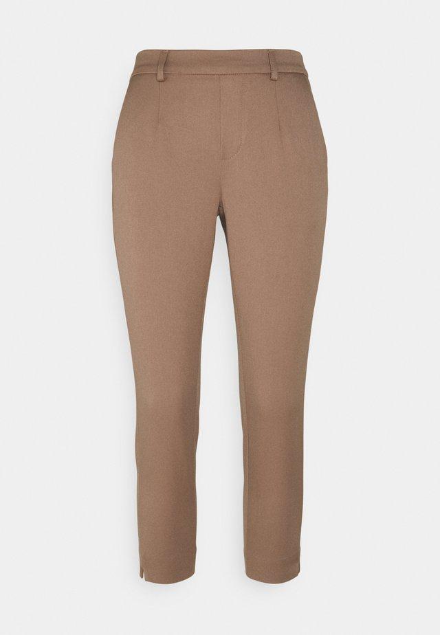 OBJLISA SLIM PANT PETIT - Trousers - cognac