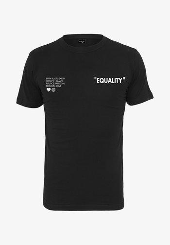 BIRTH PLACE EARTH  - Print T-shirt - black
