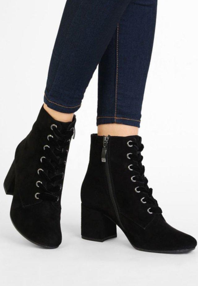 VOCAB - Bottines à lacets - black