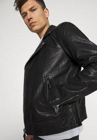 Superdry - MOTO BIKER - Leather jacket - black - 4