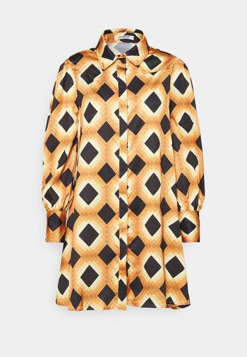 BALLOON SLEEVE DRESS - Skjortekjole - mustard