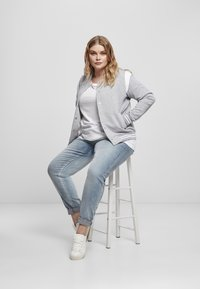Urban Classics - Zip-up hoodie - grey white - 9