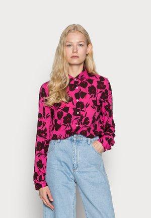 BLOUSE - Košile - pink/bordeaux