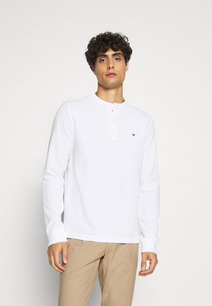 ESSENTIAL LONG SLEEVE HENLEY - Langærmede T-shirts - white