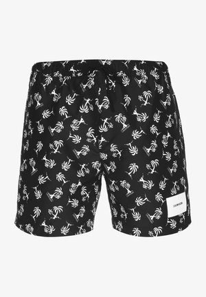 Swimming shorts - palm tree repeat black