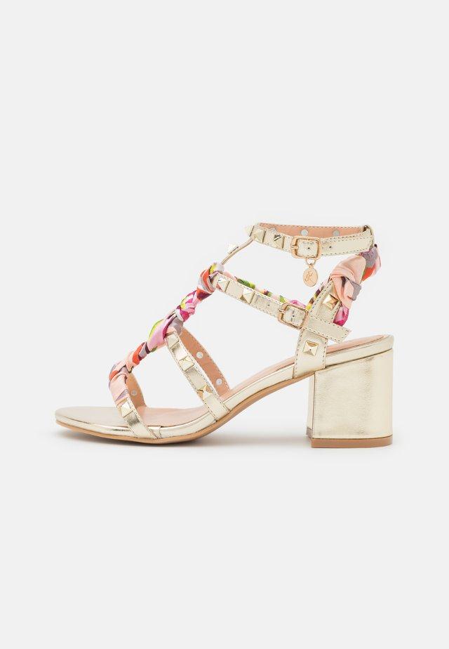 Sandales - laminato platino