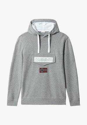 Hoodie - medium grey melange