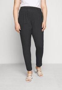 Kaffe Curve - KCJIA PANTS - Pantalon classique - dark grey ange - 0