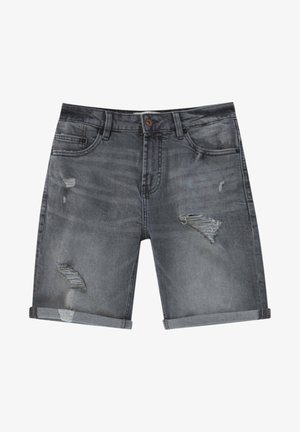 Denim shorts - mottled grey