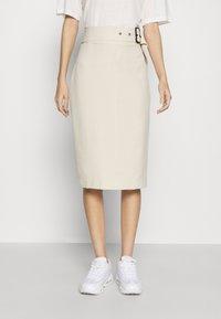 4th & Reckless - SKIRT - Pencil skirt - cream - 0