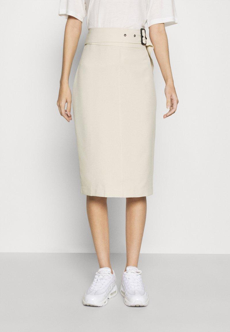 4th & Reckless - SKIRT - Pencil skirt - cream