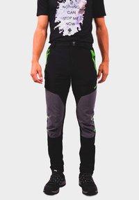 IZAS - Outdoor trousers - black/dark grey/lime - 0