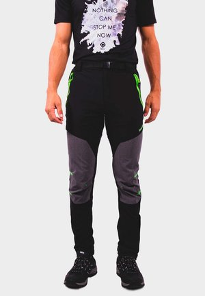 Outdoor trousers - black/dark grey/lime