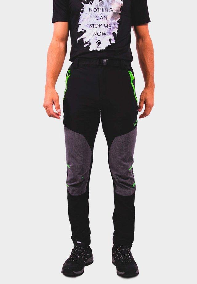 Pantaloni outdoor - black/dark grey/lime