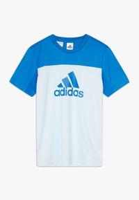 adidas Performance - TEE - T-Shirt print - lieght blue/blue - 0