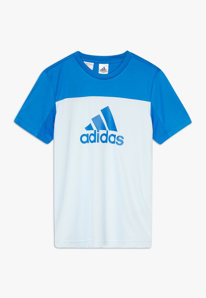 adidas Performance - TEE - T-Shirt print - lieght blue/blue