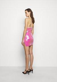 David Koma - Shift dress - white/pink - 2