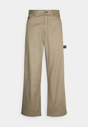 JOHAN CARPENTER TROUSERS - Kangashousut - beige