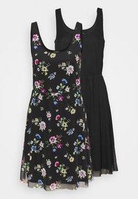 Even&Odd Tall - 2 PACK - Day dress - black/multi-coloured - 0